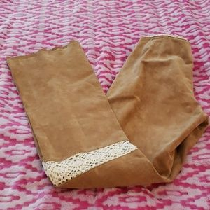 Wilson Maxima Leather Pants with Lace Size 4